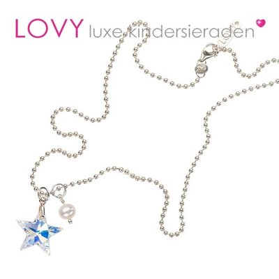 Kinderketting zilver Wish upon a Star