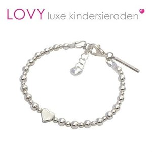 Lovely Dots zilveren baby armband